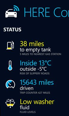 HERE Auto Companion app for Android and Windows Phone