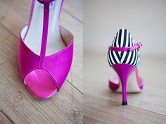 Comme Il Faut - pink & navy stripes -- love!