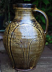 DOUG FITCH HOLLYFORD STUDIO POTTERY SLIPWARE LARGE EXHIBITION QUALITY JUG