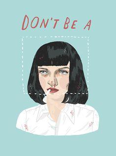 Mia Wallace from 'Pulp Fiction' | ivonna buenrostro http://heartbeatsclub.tumblr.com/
