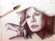 Ritanna Armeni disegno a BIC su carta, 33x24cm Roma 2012