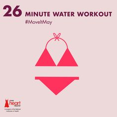 #MoveItMay Day 26: Pool's open! Get in a water workout—swim, do water aerobics or aqua jog for 26 minutes. @Woman's Day has a lot of water aerobics exercises!