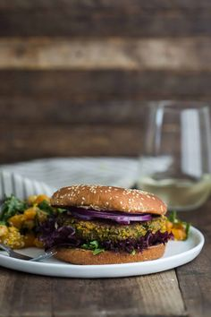 Chickpea Burgers with Spinach