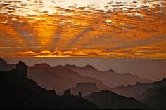 Cumbres de Gran Canaria - Sunset on Roque Bentayga