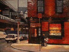 "Not Edward Hopper, ""Bridge Cafe"", it's Edward kaplan Robert Rauschenberg, American Realism, American Artists, David Hockney, Toulouse, Manet, Edward Hopper Paintings, Belle Villa, Les Oeuvres"