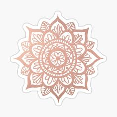 A hand drawn floral mandala design in a lovely rose gold tone! For more mandala designs visit my Redbubble shop! julieerindesign.redbubble.com • Millions of unique designs by independent artists. Find your thing. Tumblr Stickers, Phone Stickers, Diy Stickers, Printable Stickers, Planner Stickers, Glitter Tumblr, Rose Gold Aesthetic, Coque Iphone 7 Plus, Mandala Art