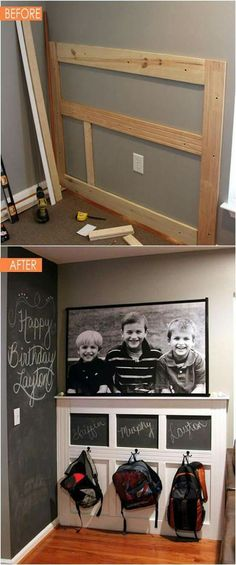 21 amazing DIY before after entryway makeovers! These dramatic transformations will inspire you to create a beautiful, functional and welcoming entryway! - A Piece Of Gorgeous (& Achievable!) Before After DIY Entryway amazing DIY be Home Organization, House, Home Projects, Before And After Diy, Home, Home Remodeling, New Homes, Home Diy, Diy Entryway