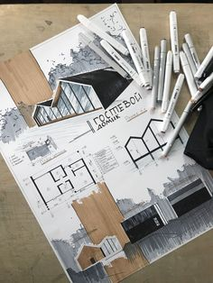 Discover recipes, home ideas, style inspiration and other ideas to try. Sketchbook Architecture, Concept Board Architecture, Croquis Architecture, Architecture Portfolio Layout, Landscape Architecture Model, Architecture Drawing Art, Architecture Model Making, Conceptual Architecture, Architecture Concept Drawings