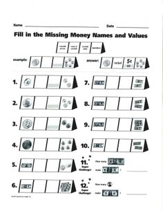 #Math worksheet - Page 7 of the Money Modular Flip Charts