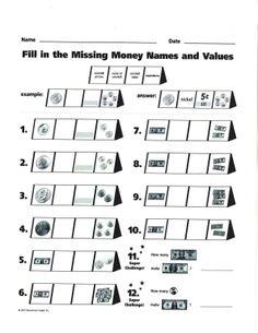 #Math worksheet - Page 7 of the Money Modular Flip Charts