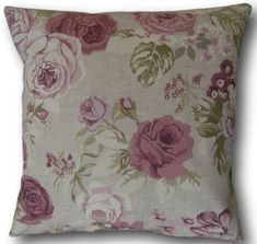 Genevieve Mulberry Cushions and Covers Clarke and Clarke 100 cotton fabric Washable at low temperature steam iron Choice of design Cream cotton Pink Cushions, Floral Pillows, Throw Cushions, Pink Cushion Covers, Clarke And Clarke Fabric, Traditional House, Steam Iron, Pinterest Marketing