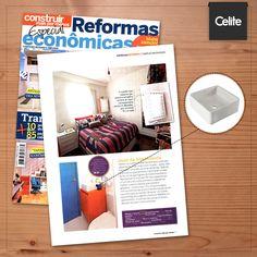 """Qualidade e economia com a Celite! Nossas louças e metais figuraram na matéria """"O primeiro apê"""", da revista Construir Mais por Menos - Especial Reformas Econômicas."""