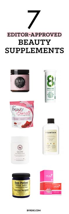 From fizzy green juice tablets to skin-brightening elixirs—7 beauty supplements editors love