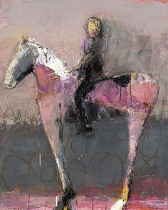 "Pink Amazon by Dominique Samyn Acrylic and Venetian Plaster on Masonite ~ 40"" x 32"""