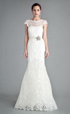 Bellerose Dress | French Lace Wedding Dress | Temperley London - love this dress (not the sash)