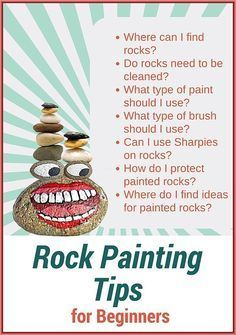 Rock Painting Tips for Beginners – Where to Find Rocks – Best Brushes – Paints – How to Seal and Protect. Rock Painting Tips for Beginners – Where to Find Rocks – Best Brushes – Paints – How to Seal and Protect. Pebble Painting, Pebble Art, Painting Tips, Stone Painting, Rock Art Painting, Spray Painting, Rock Painting Ideas For Kids, Rock Painting Supplies, Painting People