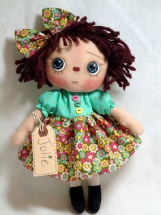 Julie  Raggedy Annie Doll by Allisbright on Etsy, $34.00 at www.etsy.com/shop/allisbright