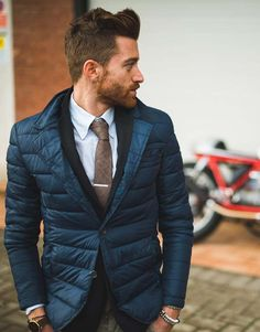 Quilted blazer #coldweatherstyle #menstyle #jacket