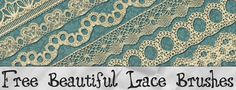 Vintage Graphic Design - Beautiful Lace Brushes - StarSunflower Studio