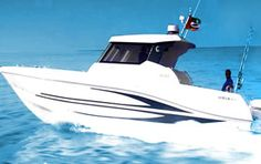 A beautiful yacht with modern and sleek design. Enjoy a gathering on board and explore the marina of Dubai.