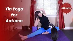 Yin Yoga for Autumn | Transition {60 mins} Yin Yoga Sequence, Yin Yoga Poses, Yoga Sequences, Yin Yoga Benefits, Yoga Youtube, Yoga Videos, Yoga For Beginners, Exercise, Health