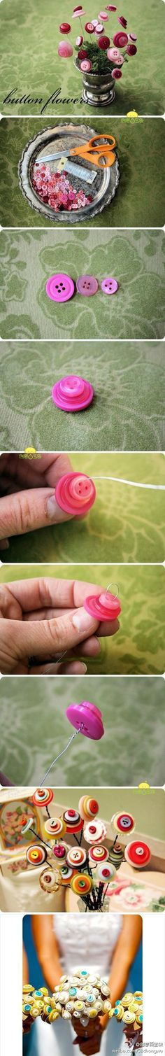 button flowers (you could forever keep your bouquet and it would probably be cheaper - customized colors to match bridesmaid dresses/personalities)