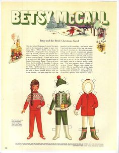 Betsy and the birds' Christmas carol...December 1969
