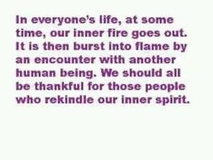 Burst into flame, a spirit on fire...