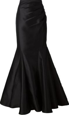 black fishtail maxi skirt <3