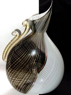 RARE Murano DINO MARTENS Mezza Filigrana FORATO Vase   $10000.00