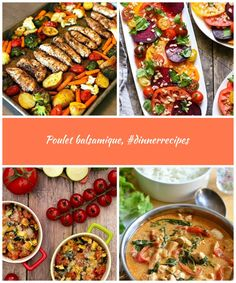Poulet balsamique, #dinnerrecipes,  #balsamique #dinnerrecipes #poulet summer recipes Poulet balsamique, #dinnerrecipes Healthy Salads, Curry, Ethnic Recipes, Food, Balsamic Chicken, Curries, Essen, Yemek, Meals