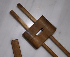 Vintage Antique Carpenter's Double Rail Marking Gauge Scribe Hand Tool   eBay