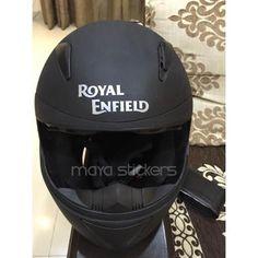 Royal enfield logo stickers on helmet