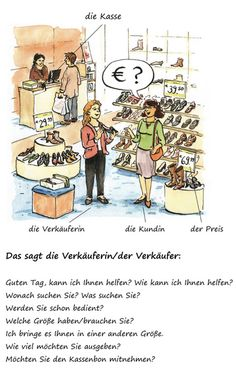 Wortschatz Einkaufen • German vocabulary, phrases for shopping