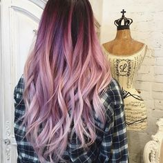 Image result for rose gold purple balayage