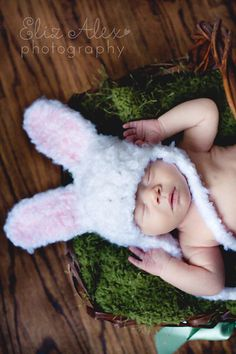 Easter Bunny Photography Prop Hat and by ThatsTheCutestThing,