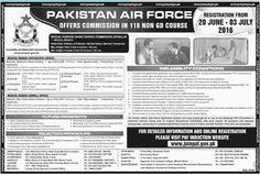 Jobs in Pakistan Air Force