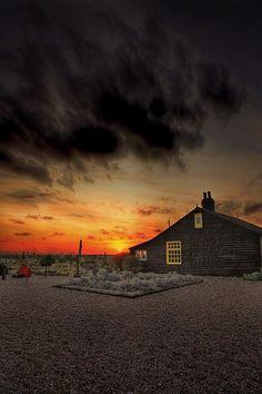 The late Derek Jarman's cottage, Dungeness, Kent. Poster By Lee-Anne Rafferty-Evans Romney Marsh, Seaside Garden, Thing 1, House Design Photos, Home Based Business, Better Homes, Ciel, Interiores Design, Decoration