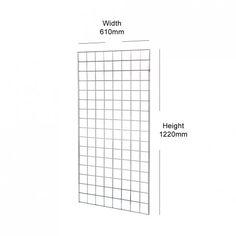 Gridwall Mesh Panel - 1220mm high (4ft) | Shopfitting Warehouse