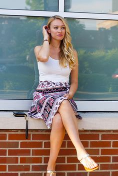 Boho chic outfit featuring a fair trade elephant print skirt and Native American made jewelry