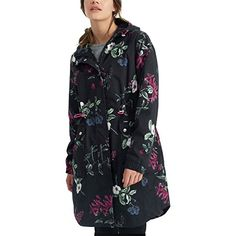 Joules Raina Print Jacket  Womens Black Hedgegrow 10 >>> Visit the image link more details.(This is an Amazon affiliate link and I receive a commission for the sales)