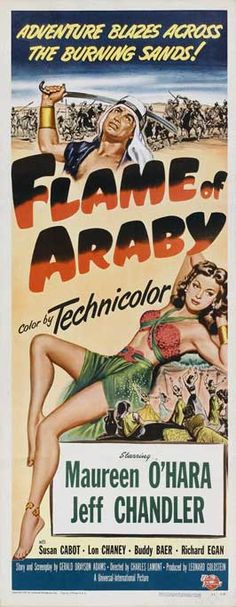 FLAME OF ARABY (1951) - Maureen O'Hara - Jeff Chandler - Universal-International - Insert movie poster.