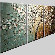Abstract Canvas Art, Oil Painting Abstract, Canvas Wall Art, Knife Painting, 3 Piece Wall Art, Wall Art Pictures, Home Decor Wall Art, Room Decor, Texture Art