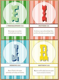 Bible verse cards for every letter of the alphabet to memorize... good idea.  These are $25