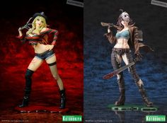 Freddy and Jason in sexy action figure...