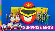 Power Rangers Toys ft Play Doh Power Rangers Giant Surprise Egg & Kinder...