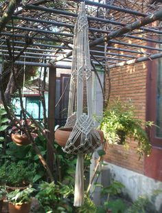 Two arms Plant Hanger White Tiara