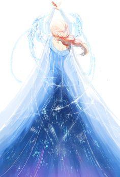 Elsa #disney #frozen #fanart