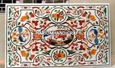 5'x2.5' Marble Dining Top Table Birds With Floral Inlay Garden Decorative H5214A