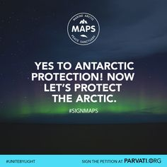 The Antarctic region has been protected for decades from exploitation. But the Arctic, one of the planet's most fragile ecosystems, stands to be exploited by business and political interests for the resources within its seabed, further threatening the ice that remains and the marine life beneath it. MAPS (the Marine Arctic Peace Sanctuary) will stop this exploitation for good and help stop climate change.  Find out more and sign the MAPS petition at parvati.org!